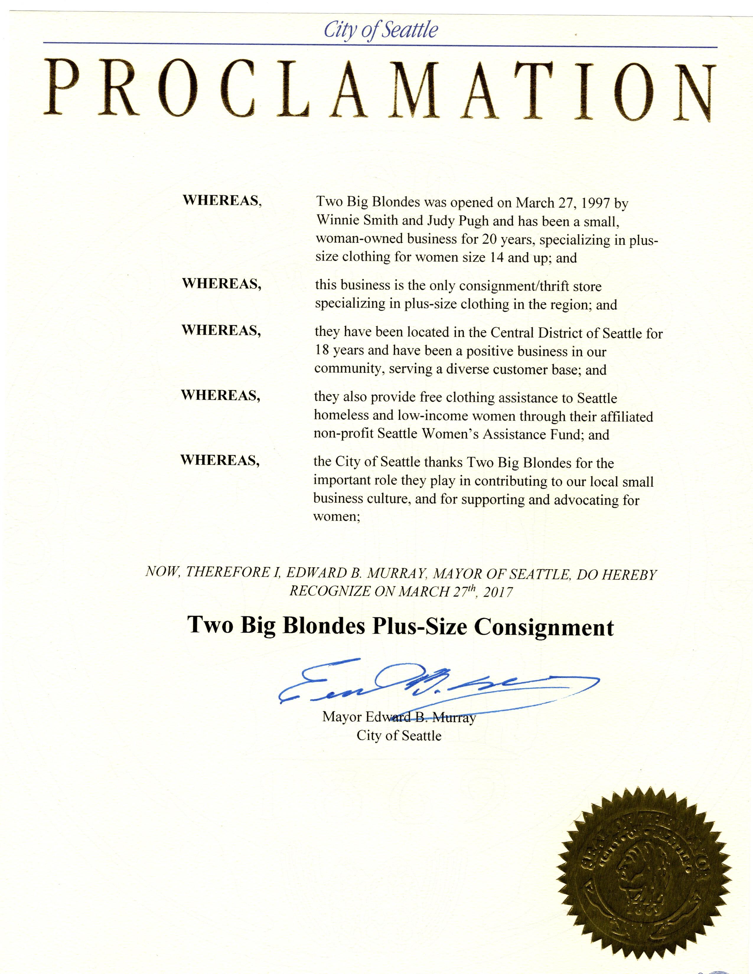 TBB Proclamation 3-27-17