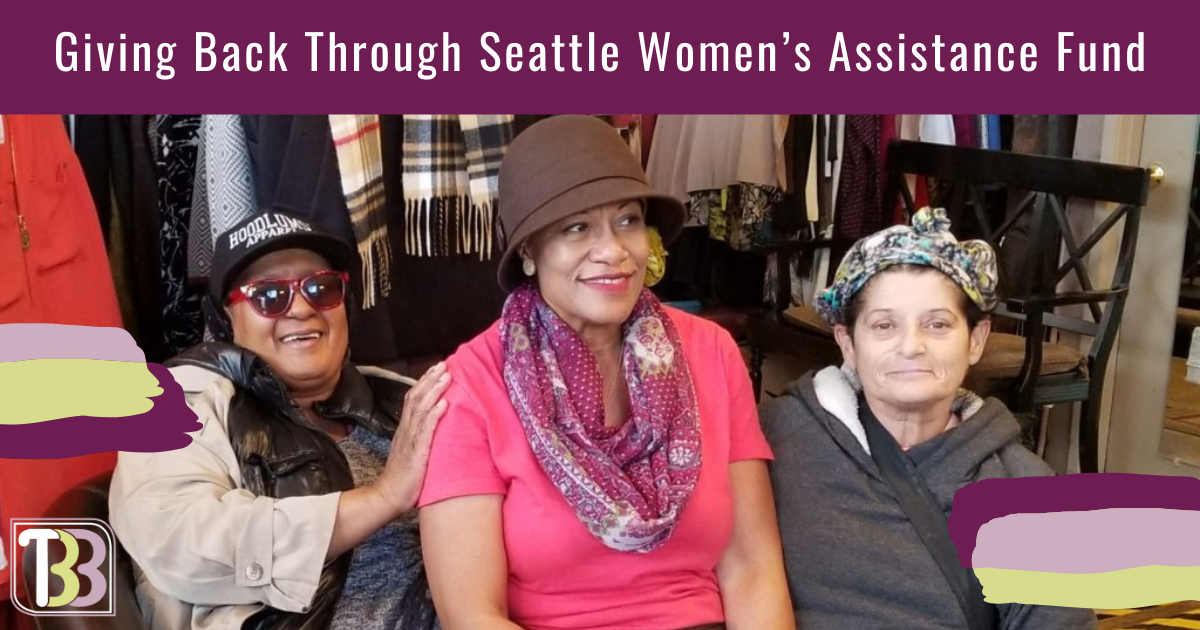 Giving Back Through Seattle Women's Assistance Fund   Two Big Blondes Plus-Size Consignment