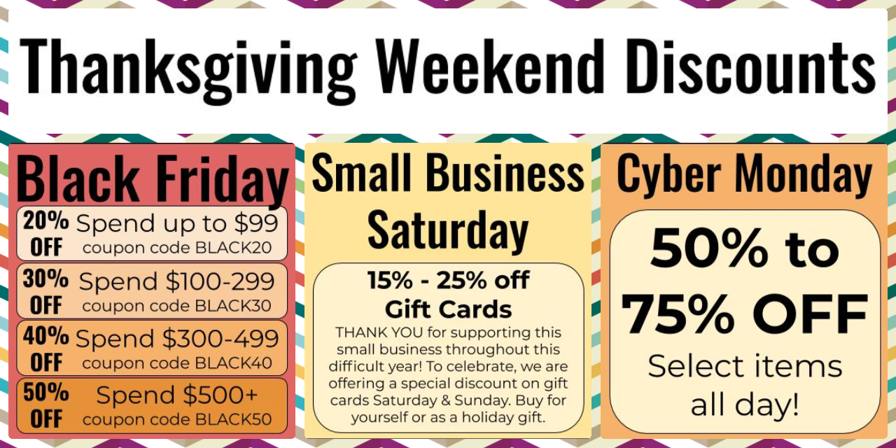 Thanksgiving Weekend Discounts